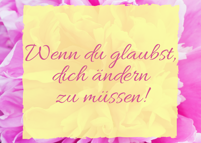"""""""Ich will anders sein"""""""